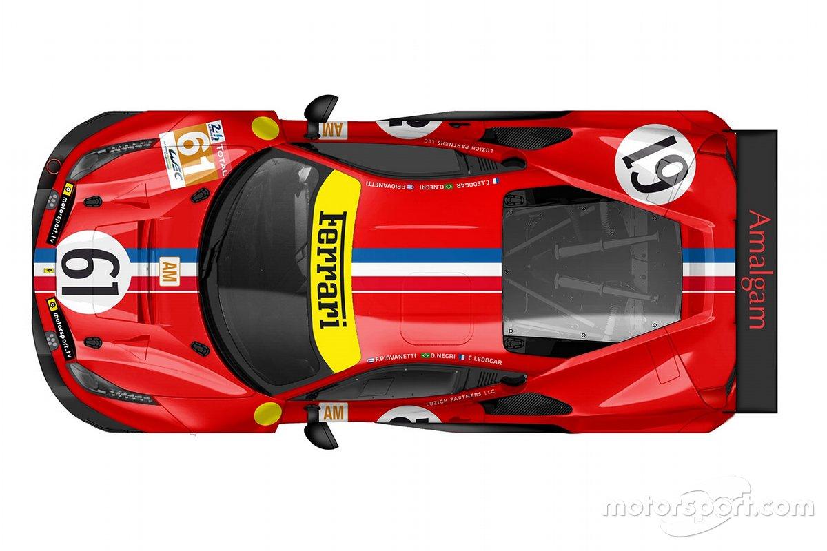 #61 Luzich Racing Ferrari 488 GTE livery