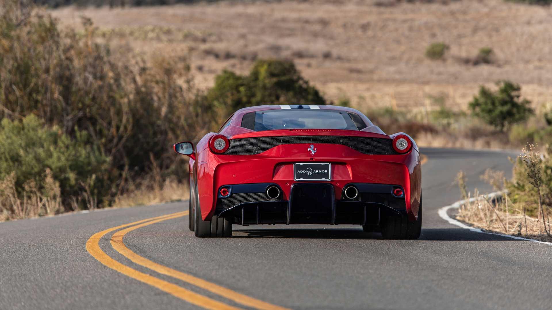 Bulletproof Ferrari 458 Speciale By AddArmor Rear View
