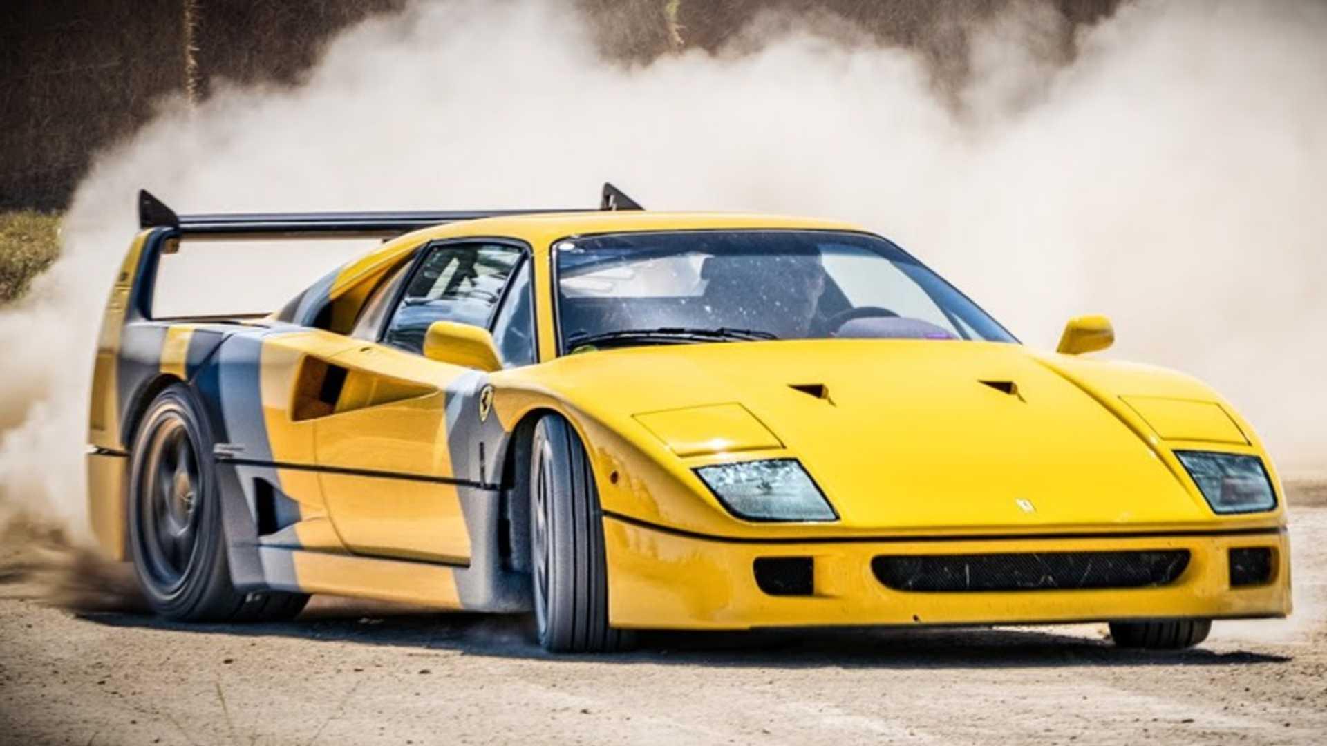 Ferrari F40 Trashed Around A Dirt Course Looks Like A Real Hoot