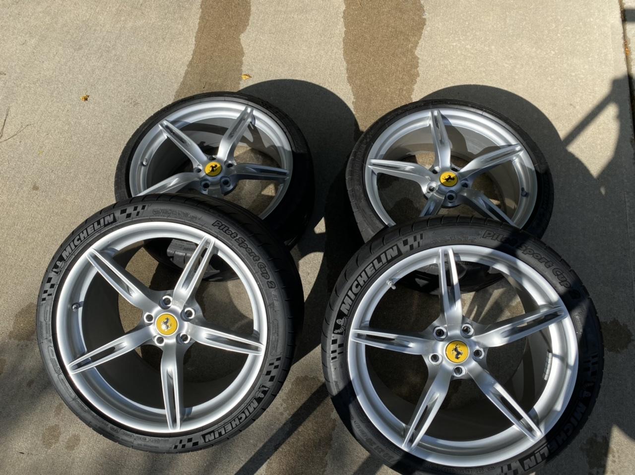 For Sale 20 Ferrari 458 Speciale Wheels Forged Oem Silver Tpms Valve Stems Caps Tires Ferrarichat