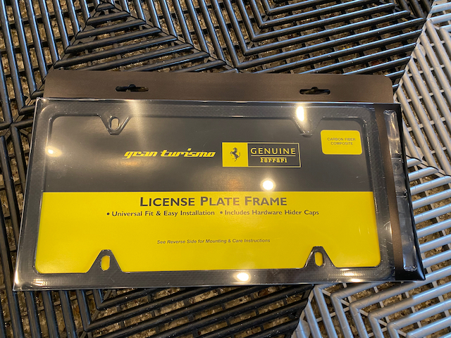 For Sale Ferrari Carbon Fibre License Plate Frames Ferrarichat