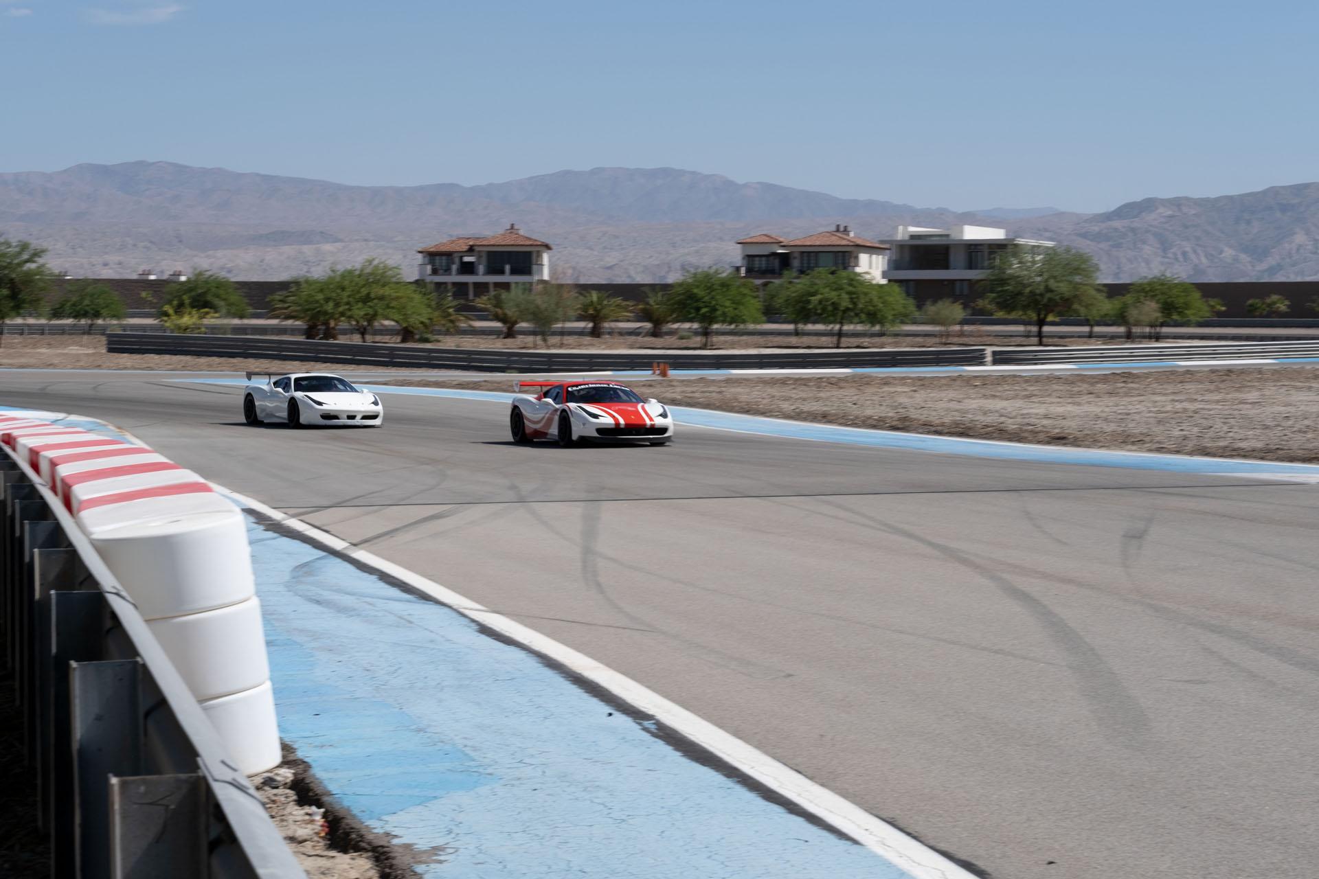 2 Ferraris On Track