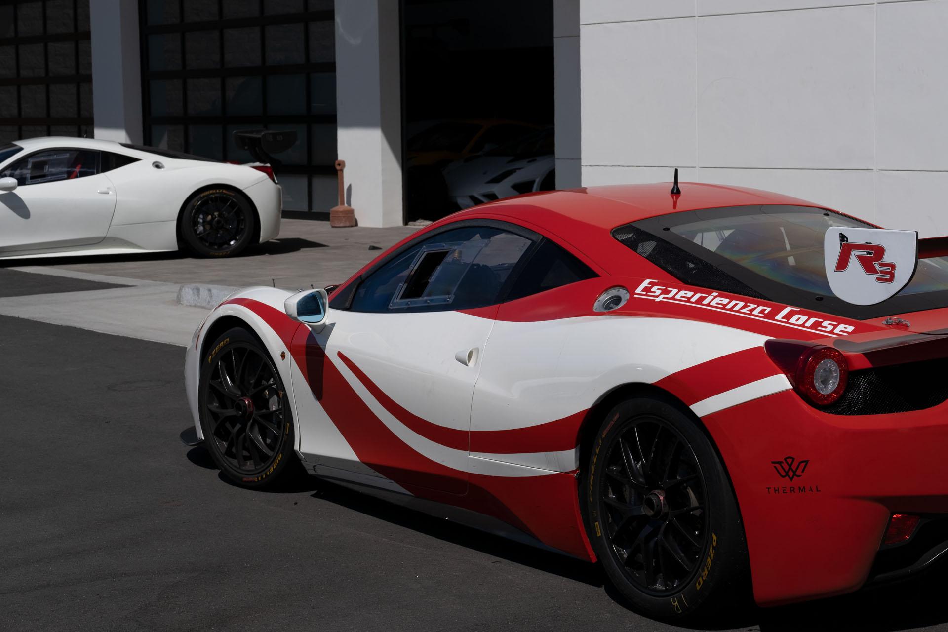 Ferraris Outside Garage